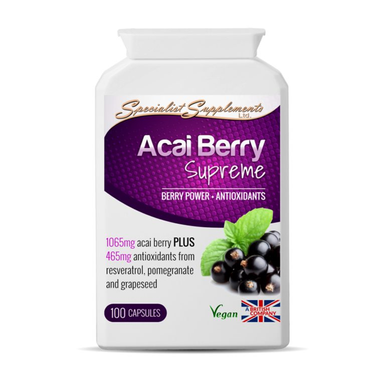 Acai Berry Supreme - Vegan Berry Power / Slimming Aid / Antioxidants Health Supplements