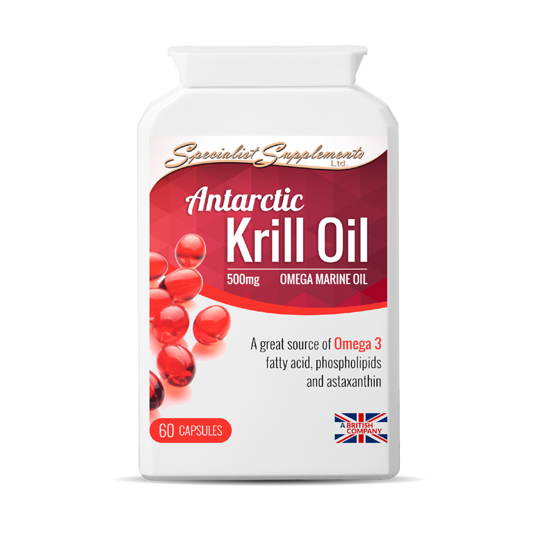 Antarctic Krill Oil - Omega Marine Oil with Omega 3 Oil / Antioxidants Health Supplement