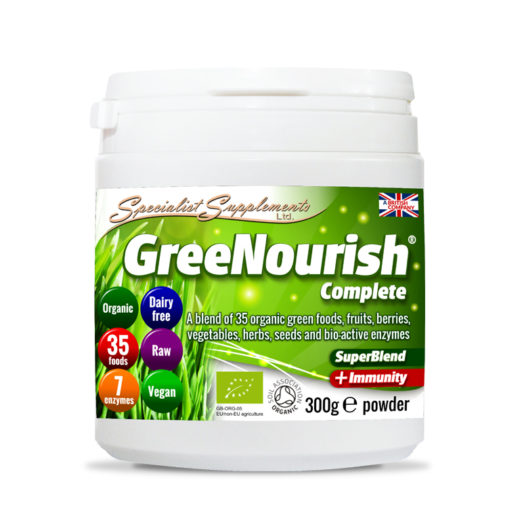 GreeNourish Complete - Organic Meal Shake / contains 35 organic green foods with Immunity Support / Health Supplement