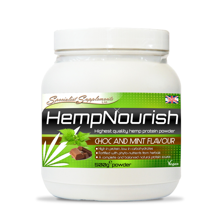 HempNourish Chocolate and Mint Flavour Protein Powder - Muscle, Sports and Fitness / Health Supplements