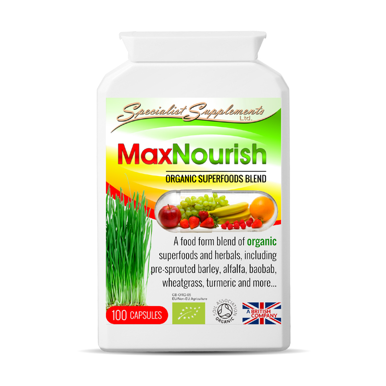 Max Nourish Herbal Blend - Organic Superfoods Blend with Immunity Support