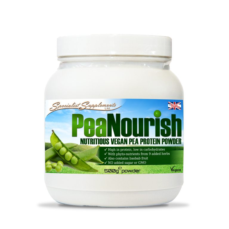 PeaNourish Protein Powder / Low Carb / Muscle, Sports and Fitness / Vegan