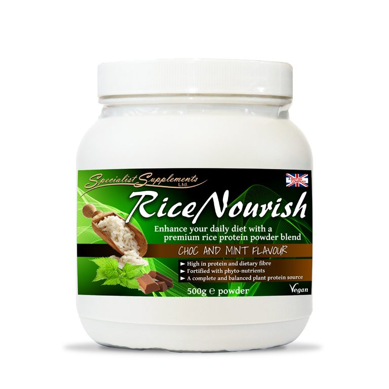 RiceNourish Protein Powder Chocolate & Mint Flavour / High in Protein / Muscle, Sports and Fitness