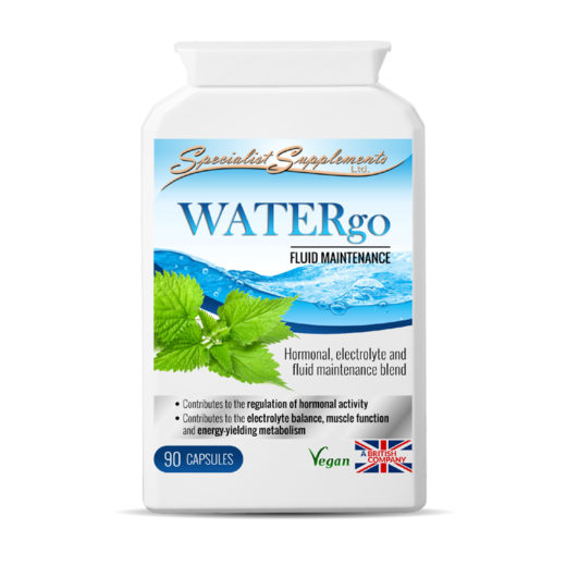 WATERgo women's health supplement - Electrolyte, hormone and fluid maintenance blend.