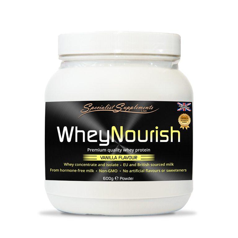 WheyNourish Vanilla Flavour - Protein Powder - Muscle Mass / Fitness / Sports
