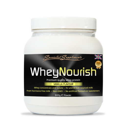WheyNourish Vanilla Flavour Protein Powder - Muscle, Sports and Fitness / Health Supplements