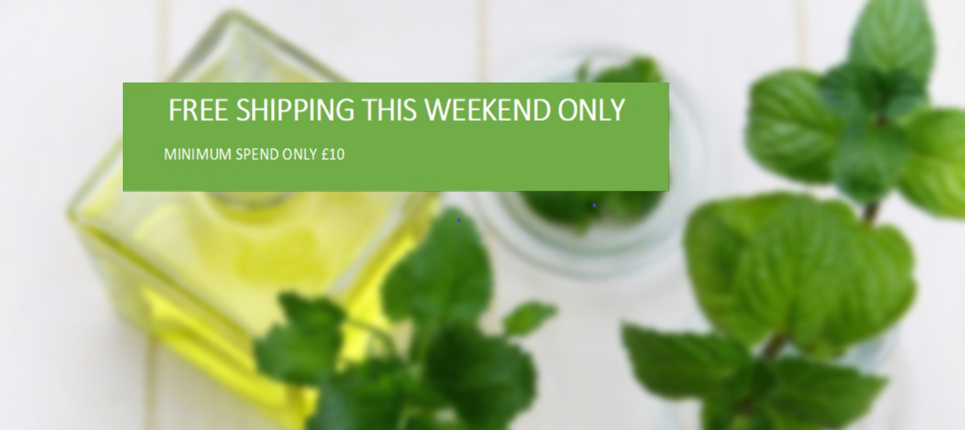 FREE SHIPPING THIS WEEKEND ONLY MIN. SPEND £10